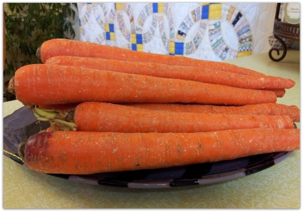 carrots on tray